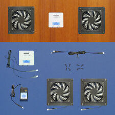 2-Zone AV cabinet fans with adjustable thermostat & multispeed/Home Theater