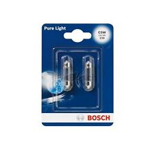BOSCH Pure Light Number Plate Bulb 239 C5W 12V - Twin Pack PAIR REAR BULBS NEW