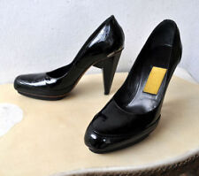 High (3 in. and Up) Block Patent Leather Pumps, Classics Heels for Women