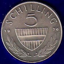 AUSTRIA 5 SCELLINI 1970 Fdc Unc #4041