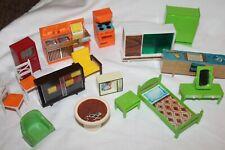 Vintage 60's 70's Plastic Dollhouse Furniture Lot - Hong Kong