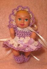 Barbie Baby Krissy Handmade Dress Bonnet and Bootie set Pretty