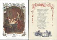 Publicité PHOSPHATINE Falières (Aliment des enfants)  Fable Le château de cartes