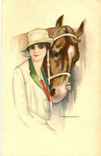 GLAMOUR :  Lady with a horse-G.NANNI- STAMPA