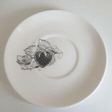 More details for vintage 60's susie cooper/wedgewood black fruit strawberry saucer