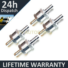 "4 X 8MM 5/16"" ONE WAY ALUMINIUM NON RETURN CHECK VALVE PETROL DIESEL OIL WATER"