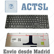 Keyboard Spanish for Toshiba Satellite P755 / P755D Series Black Frame Glossy
