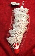 Plastic Shuttlecocks 6-pack Of White Badminton Birdies