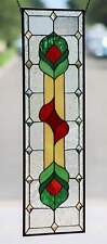"Contemporary Beveled Stained Glass Panel≈35 1/2"" x 12 1/2""( •_•)"