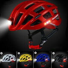 ROCKBROS MTB Helmet Ultralight With Light USB Recharge Cycling Road Bike 49-59cm