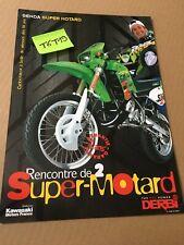 Derbi Senda 50 Supermotard publicité prospectus catalogue brochure