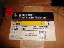 BRAND NEW IN BOX GE SPECTRA RMS CIRCUIT BREAKER ENCLOSURE CAT. TE100F