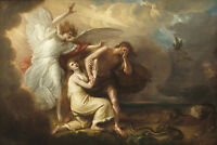 Painting West Expulsion Adam Eve From Paradise Xxl Wall Canvas Art Print