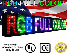 "LED Sign Full Color Programmable Message open Display Size 6"" x 63"" Semi-Outdoor"