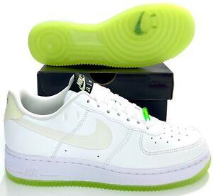 Nike Air Force 1 '07 LX White Glow In The Dark CT3228-100 Women's 7, 7.5, 8, 8.5