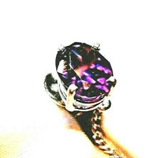 AMETHYST STERLING SILVER MENS AMAZING TIE TACK SIMULATED GEM