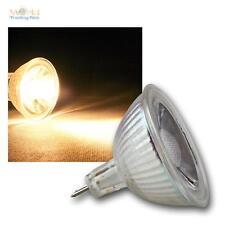 10 x mr16 lámparas LED, 5w cob blanco cálido 400lm emisor pera spot lámpara 12v
