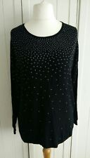 Atmosphere Black Stud Oversized Baggy Sweater Size 6 - 8