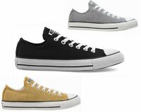 WOMENS CONVERSE CT All STAR OX CANVAS GIRLS TRAINERS GREY GOLD BLACK RRP £59