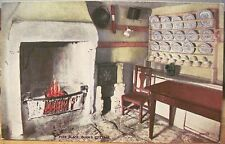 Scottish Postcard Poet Robert Burns Cottage Fire Place Scotland Valesque Jv07838