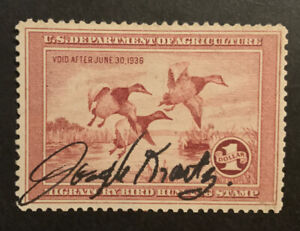 TDStamps: US Federal Duck Stamps Scott#RW2 Used Tiny Thin