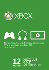 12 months XBOX LIVE GOLD 12 months membership - region free