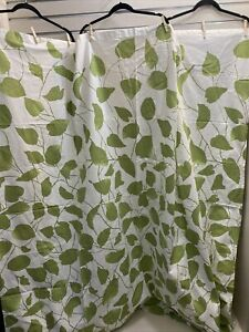 """HOME For TARGET Shower Curtain  68""""Wx70""""L White/ Green Leaves"""