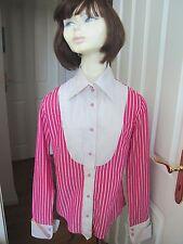 Soluzione pink candy stripe Bluse Plissee Latz Mary Poppins Gouvernante Lollipop