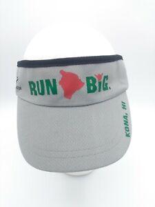 Headsweats Run Big Kona Hawaii Coolmax Running Visor Hat Gray One Size Unisex