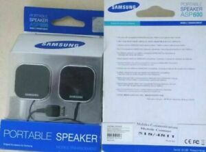 Samsung Mobile Phone Portable Speakers ASP600  Buy £6.99 2 each +  FREE DELIVERY
