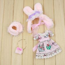 """4Pcs 12"""" Blythe Doll Factory Blythe's Fashion Outfit Js91-5"""