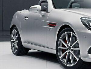 Mercedes-Benz OEM SLK & SLC Class Red Art Edition Side Vents Grilles R172 New