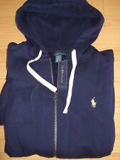 POLO Ralph Lauren Men's Navy Blue Fleece Lining Hoodies Sweatshirt New sz M