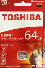Toshiba Exceria M302 THN-M302R0640EA 64GB Micro SD Card