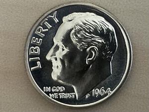 Rosevelt Dime 1964 Proof 64 Silver