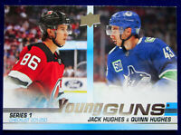 Jack Hughes Quinn Hughes 2019-20 Upper Deck Young Guns Checklist Rookie RC #250