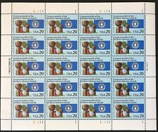 US Sheet 29¢ Stamps (20) COMMONWEALTH & NORTH MARIANA ISLANDS 1992 MNH #2804