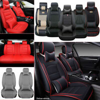 14pieces Car Seat Cover 5-Seats Interior Leather Truck Protector Waterproof Set