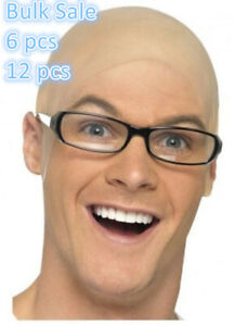 Bulk Sale Rubber Bald Skinhead Wig Cap Costume Latex Dress Up Party Head Cover