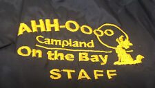 Mens AHH-OOOO Campland Camp Land On the Bay Staff Jacket Windbreaker Blue Med