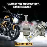 2x H4 9003 LED Motorrad Scheinwerfer Birne Fernlicht / Abblendlicht 6000K Lampe
