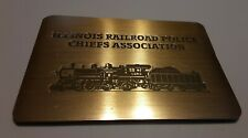 ILLINOIS RAILROAD POLICE CHIEFS ASSOCIATION MAGNETIC ADDRESS BOOK