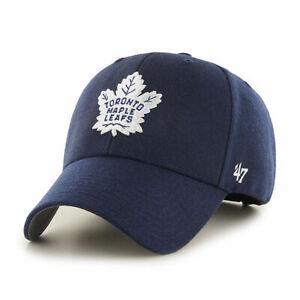 Toronto Maple Leafs Cap NHL Eishockey Cap 47 Brand Kappe Klettverschluß  Blau
