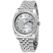 Rolex Datejust 36 Rhodium Dial Steel and 18K White Gold Mens Watch 116234RRJ