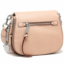 MARC JACOBS Small Recruit Nomad Nude Pink Pebbled Leather Crossbody Bag New