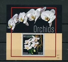 Micronesia 2015 MNH Orchids 1v S/S Flowers Flora Moth Orchid