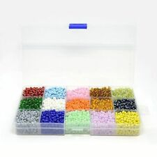 1 Box DIY Jewelry Beads 15 Color 6/0 Glass Seed Beads Mixed Color 4mm Hole:1mm