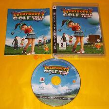 EVERYBODY'S GOLF WORLD TOUR Ps3 Versione Italiana 1ª Edizione ○○○ COMPLETO - AO
