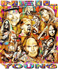 NEIL YOUNG TRIBUTE T-SHIRT OR PRINT BY ED SEEMAN