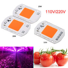 110V/220V LED COB Grow White Chip+Lens Reflector 50W 30W 20W F LED Flood Lights
